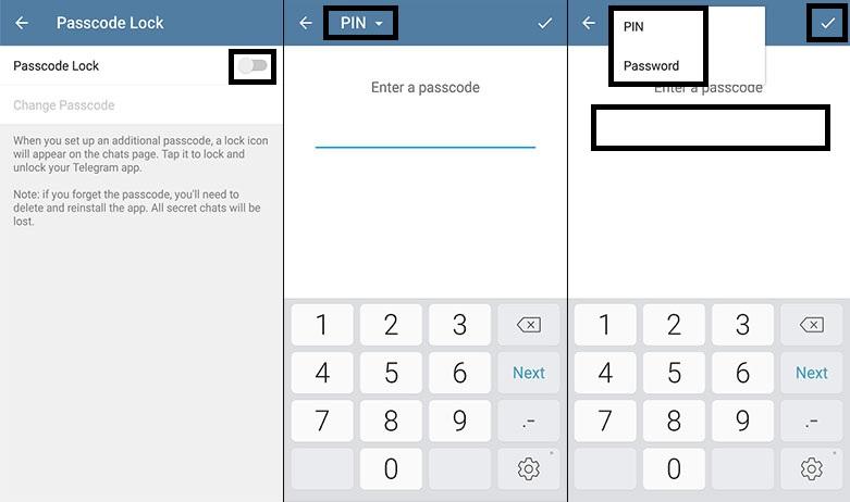 افزایش امنیت حساب تلگرام